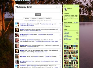 Twitter home page interface