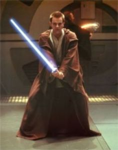 Obiwan and his light sabre