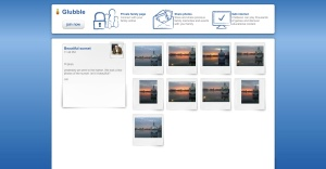 A personalized web page to share your photos with friends