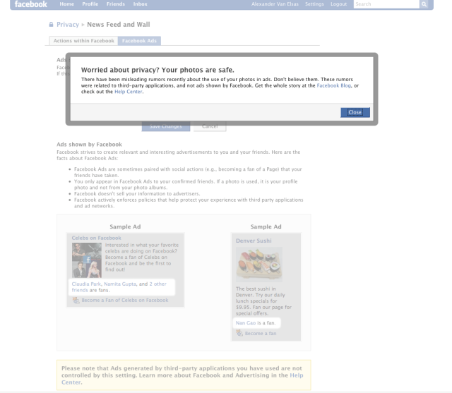 Facebook struggling with Social Advertisement