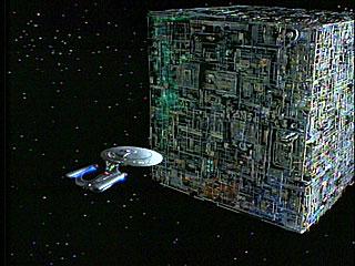 A borg cube (image taken from www.startrek.com)